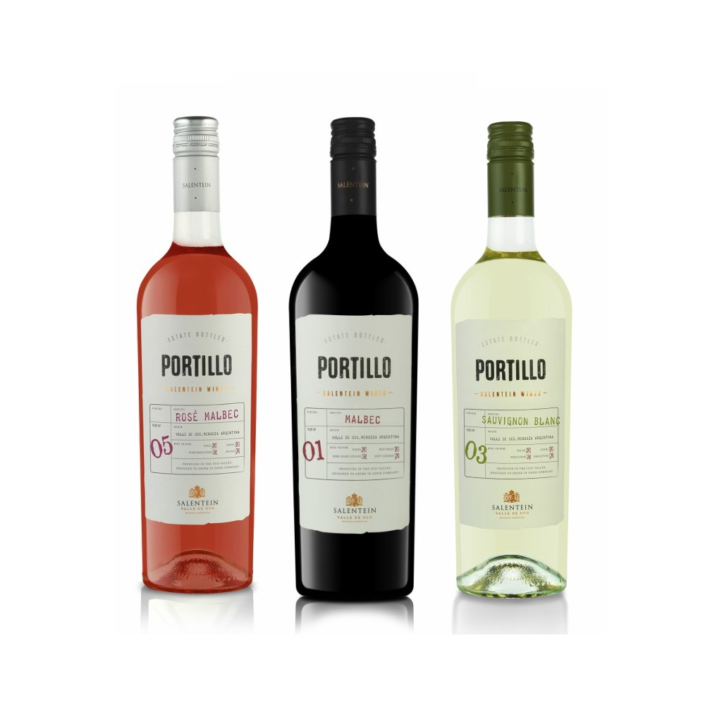 -20% dto. Pack 3*Portillo (Malbec, Rosé y Sauvignon Blanc)