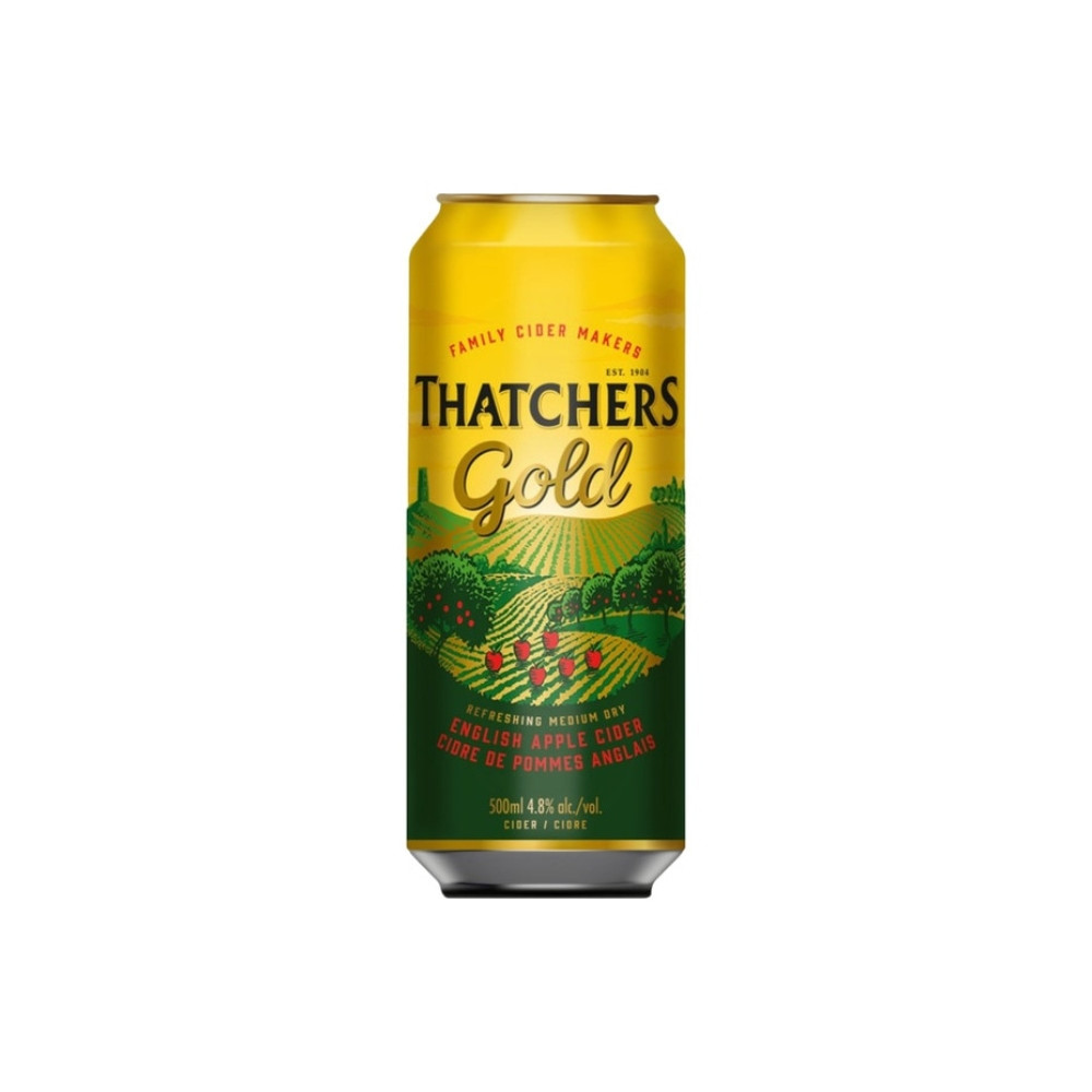 Thatchers Gold Can 500ml - 4.8º