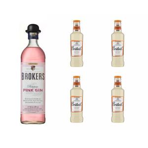 Pack Gin Broker's Pink +...