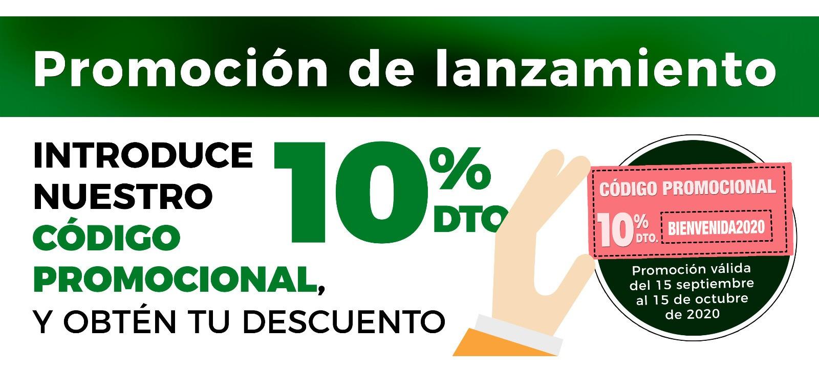 Descuento del 10% en todos los productos hasta el 15 de Octubre
