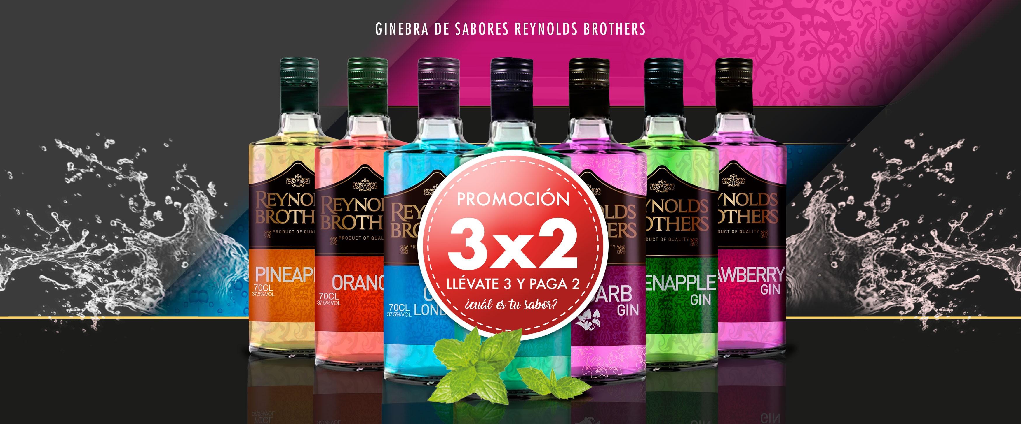 3x2 ginebra sabores